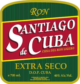 A perfect combination: Santiago de Cuba's extra dry rum and Habanos San Cristóbal of Havana.