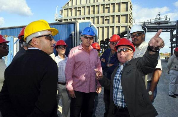 Diaz-Canel visited the major economic companies in the Cuban province of Mayabeque.